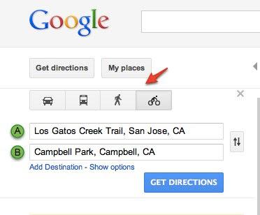 Google Lat Long Share Biking And Walking Directions With Custom Maps - Plot my walk google maps