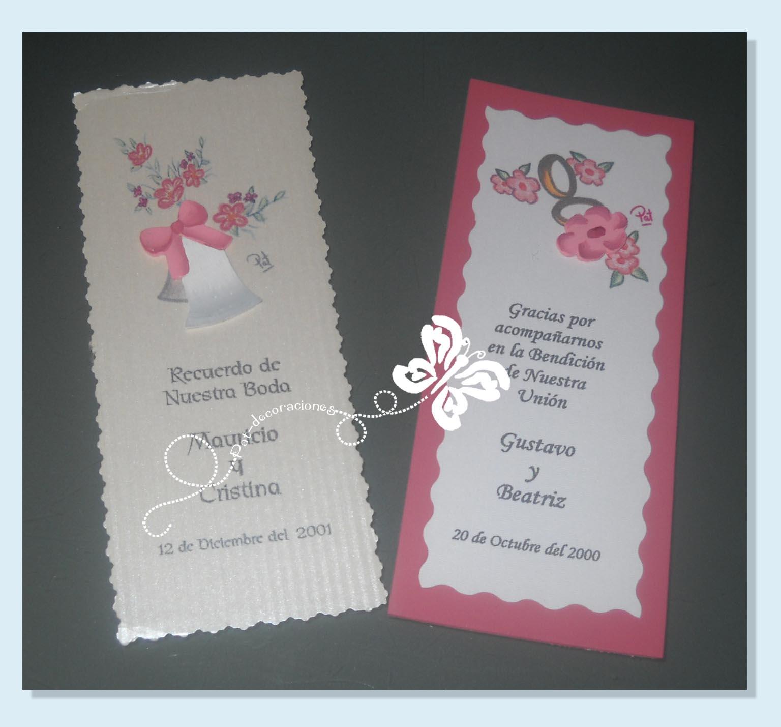 Tarjetas para recuerdos de bodas auto design tech - Tarjeta de boda ...