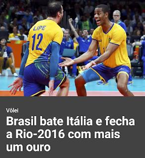 Brasil fecha Olimpíada com Ouro