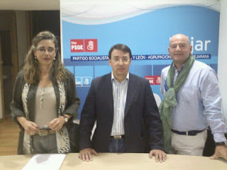 Ana Muñoz de la Peña, Fernando Pablos y Javier Garrido