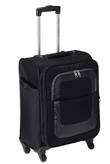 American Tourister Sparta Polyester Black Suitcase- Small Luggage