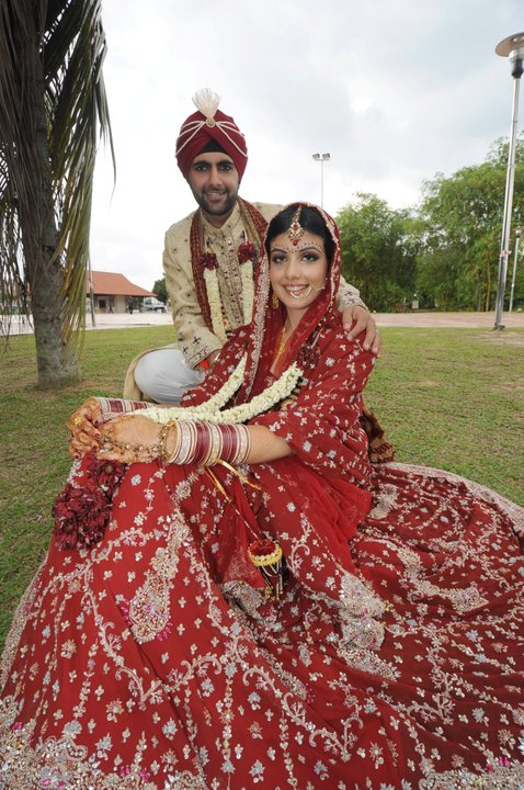 red indian wedding dresses bridal makeup