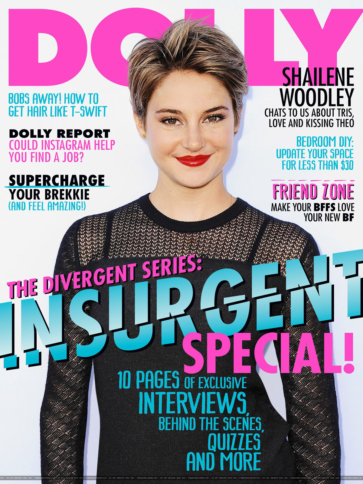 Actress: Shailene Woodley for Dolly Magazine Australia