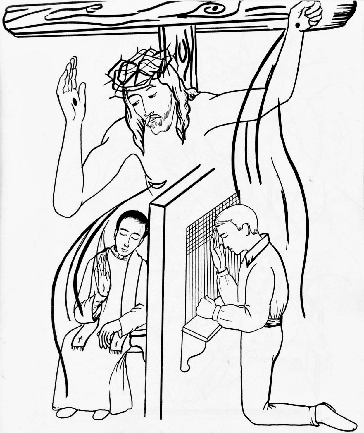 Holiday Coloring Pages  Jesus On The Cross Coloring Page  Free