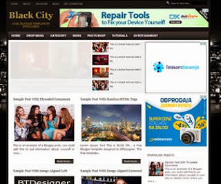 black-city-blogger-template
