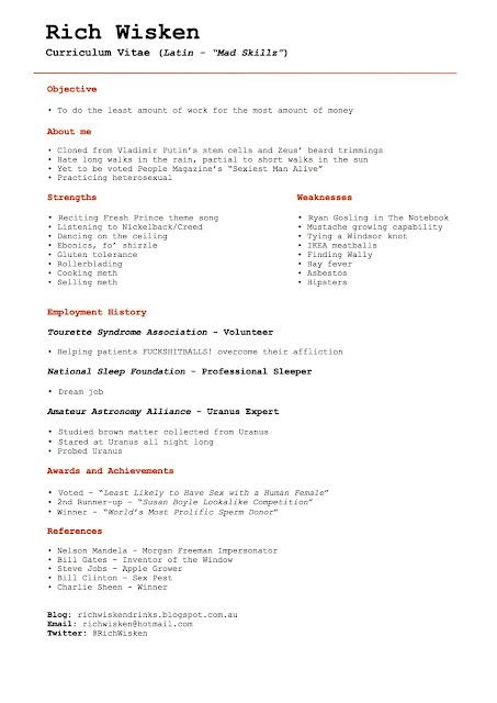curriculum vitae  curriculum vitae ks2