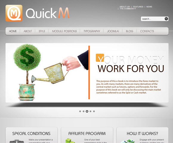 QuickM - Template for Joomla 1.5