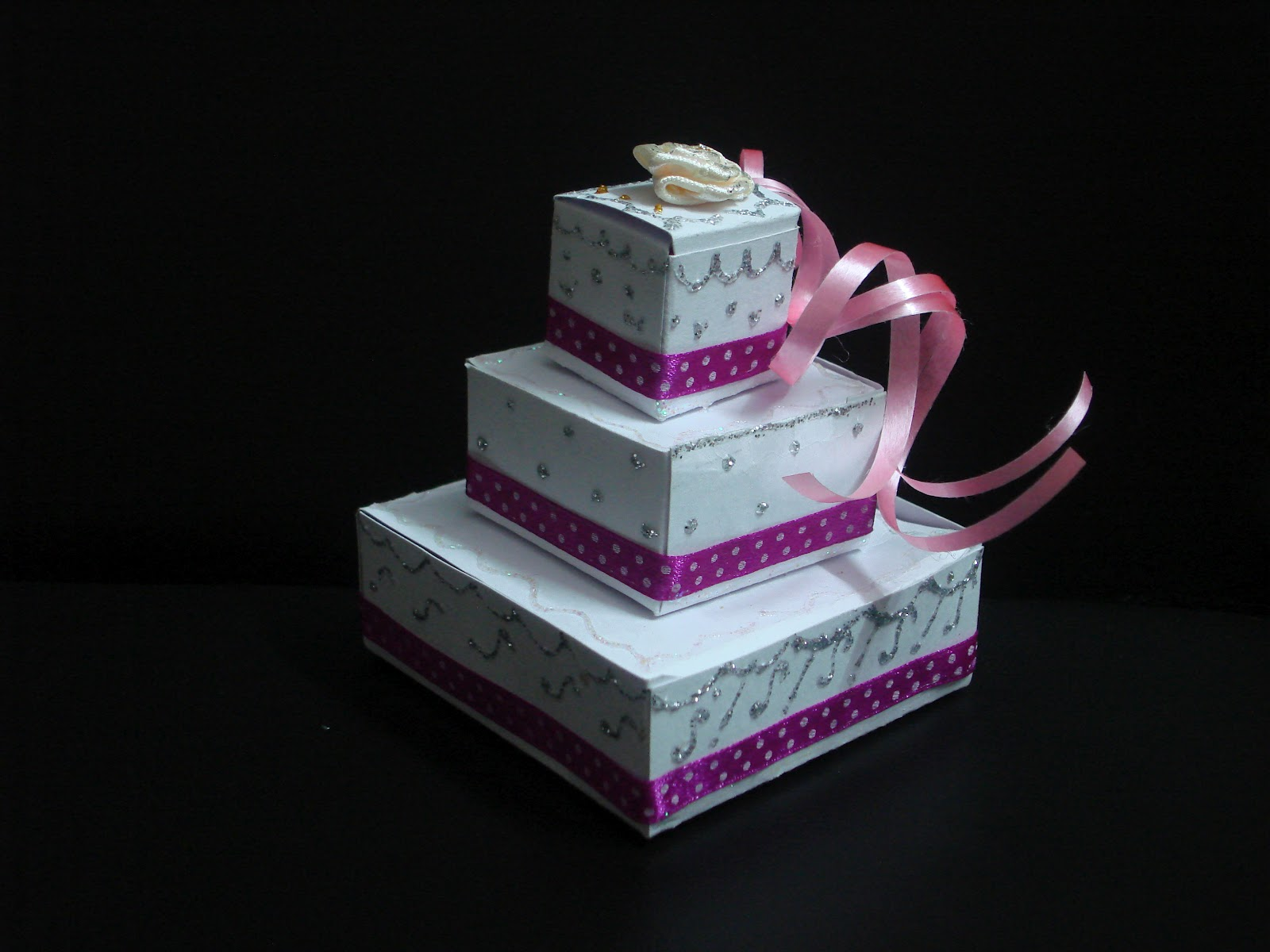 Bridal Sparklz WEDDING FAVOR 3 TIER WEDDING CAKE BOX