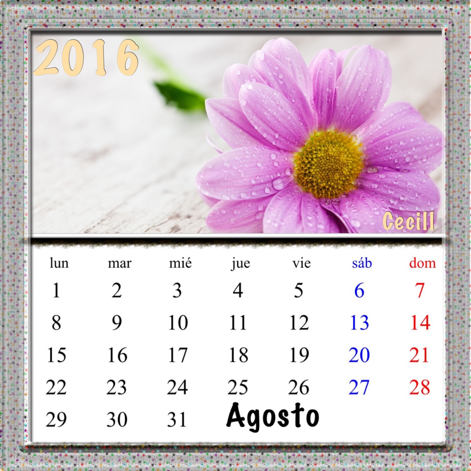 gifs de calendarios  calendarios de flores 2016