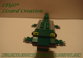 Lizard created out of LEGO bricks
