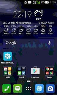 Home Lollipop Asus Zenfone 4