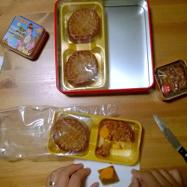 Moon cakes on Mid-Autumn Festival
