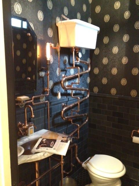 Martha Stewart steampunk bathroom. Niniane  39 s Blog  Martha Stewart steampunk bathroom