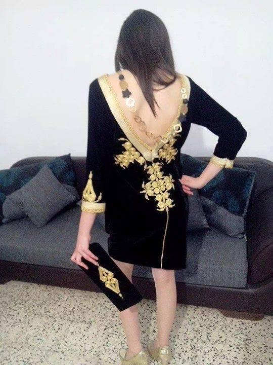 أجمل فستان قنادر قطيفة لهذه السنة Meilleur ...