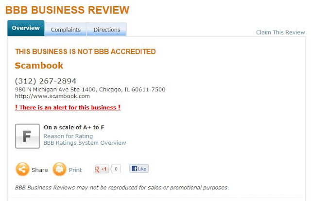 Scambook BBB Rating