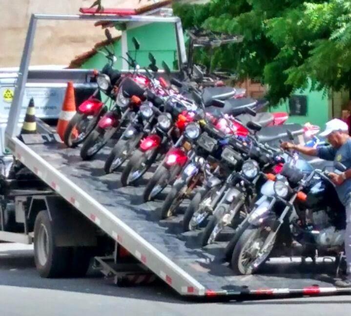 Detran-CE e Polícia Rodoviária Estadual apreendem 16 motos em Reriutaba.