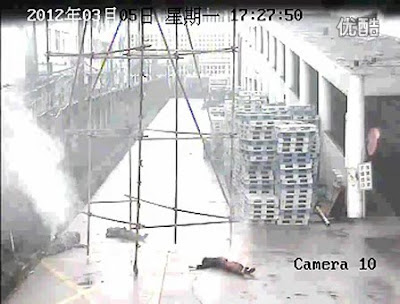 Four Chinese workers severely electrocuted