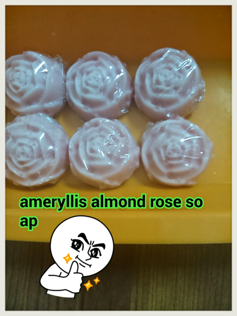 ameryllis pink Rose almond soap for baby