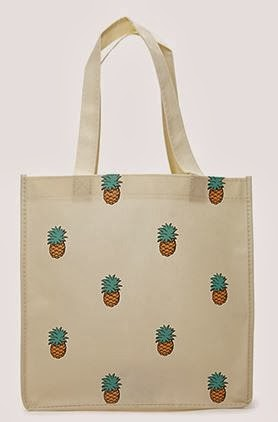 Forever 21 island pineapple shopper tote