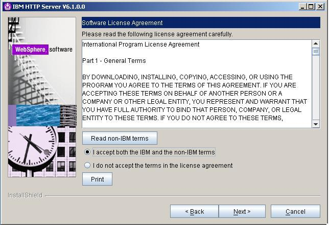 Know your websphere application serverhttpwebsphereknowledge 2 a software license agreement will appear select i accept both the ibm and the non ibm terms platinumwayz