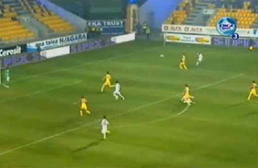 Danijel Subotić scores with an audacious trivela technique against Petrolul Ploiești