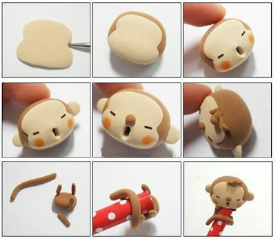 обезьяна из полимерной глины своими руками