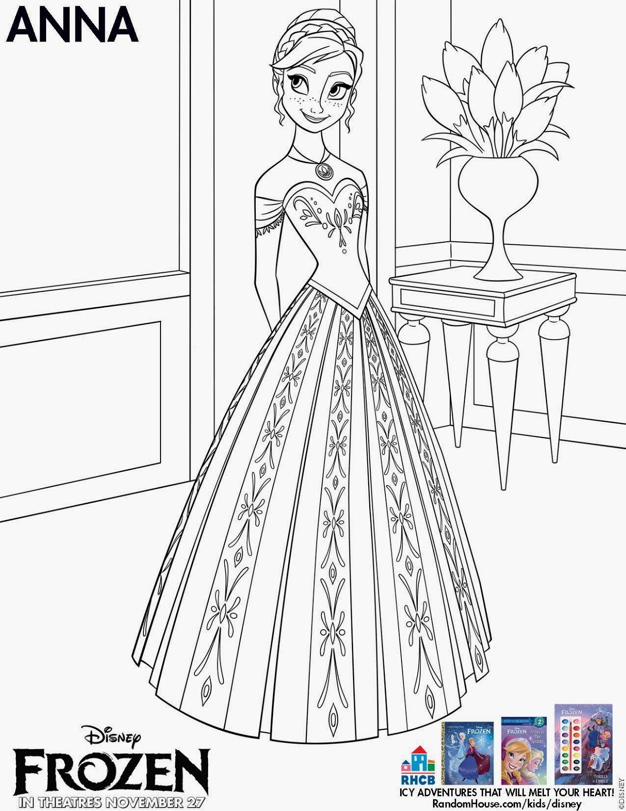 So In Celebration Of The Release Frozen On DVD And Blu Ray March 18th Here Are Some Fun Coloring Sheets Just Click Image Download