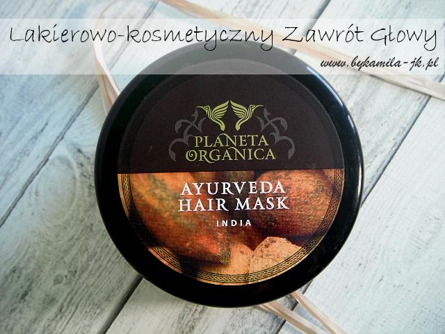 Maska do włosów Planeta Organica Ayurweda India złota ajurwedyjska kosmetyki rosyjskie