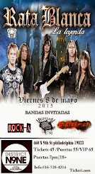 "RATA BLANCA EN EL""DISTRICT NINE"" (EE.UU.) - 08/05/2015"