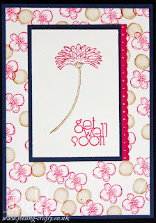 Get Well Soon card featuring the Reason to Smile Stamp Set from Stampin' Up!