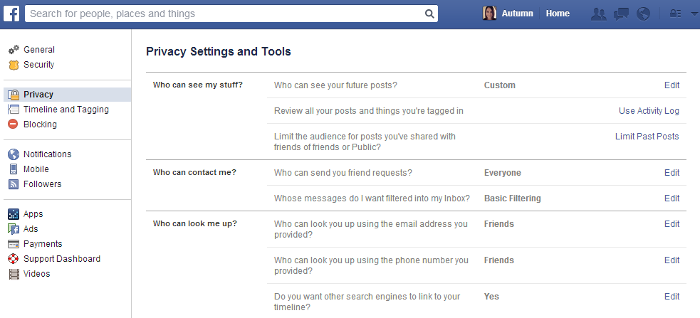 Facebook Offers Many Privacy Options