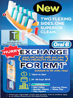 Oral-B Toothbrush Exchange Offer 2012