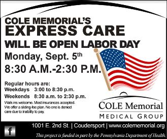 9-5 Express Care Open Labor Day