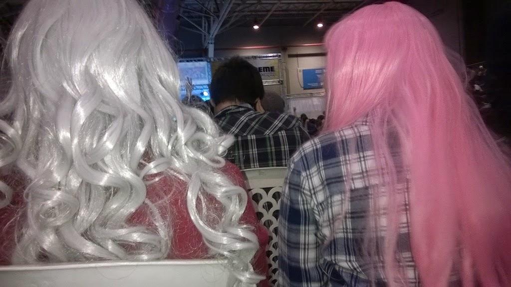 20 anime xtreme cabelo branco rosa