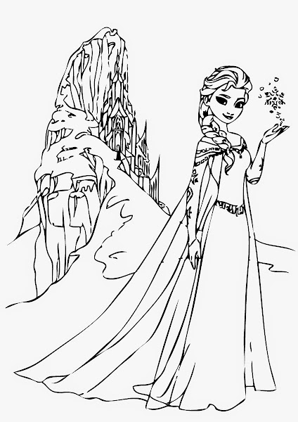 Elsa And Anna And Olaf Coloring Pages
