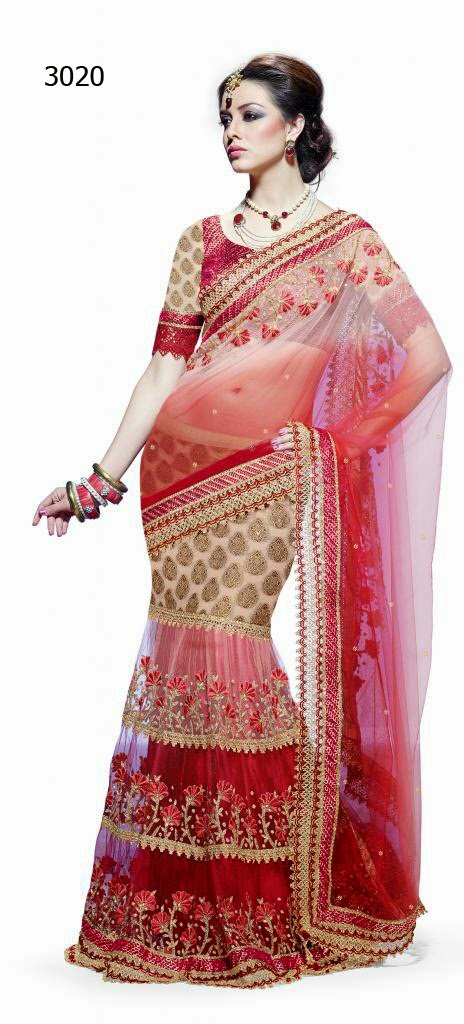 Letest Lengha type Saree-Online Shopping, Exclusive Designer Embroideries Resham Work Saree in Odisha