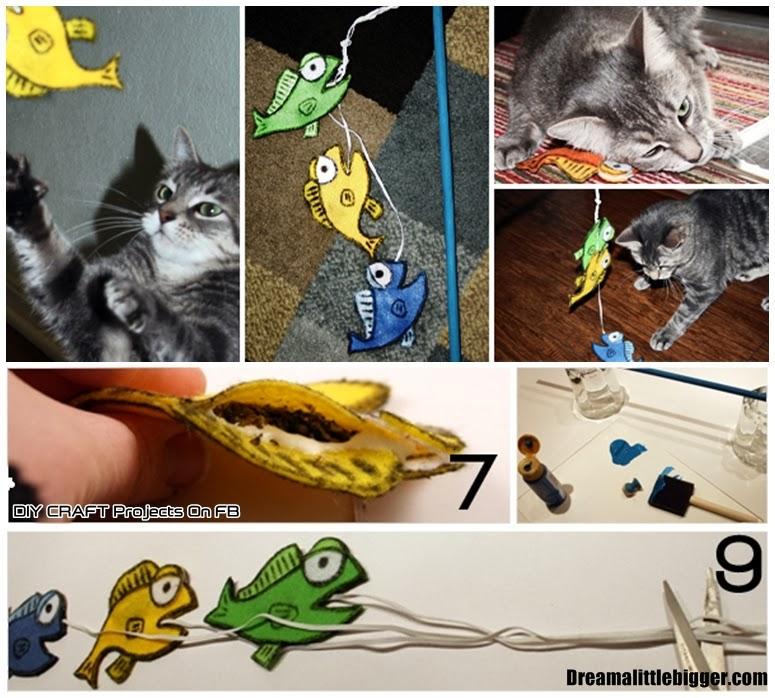 Diy fishy felt cat toys diy craft projects for Felt cat toys diy