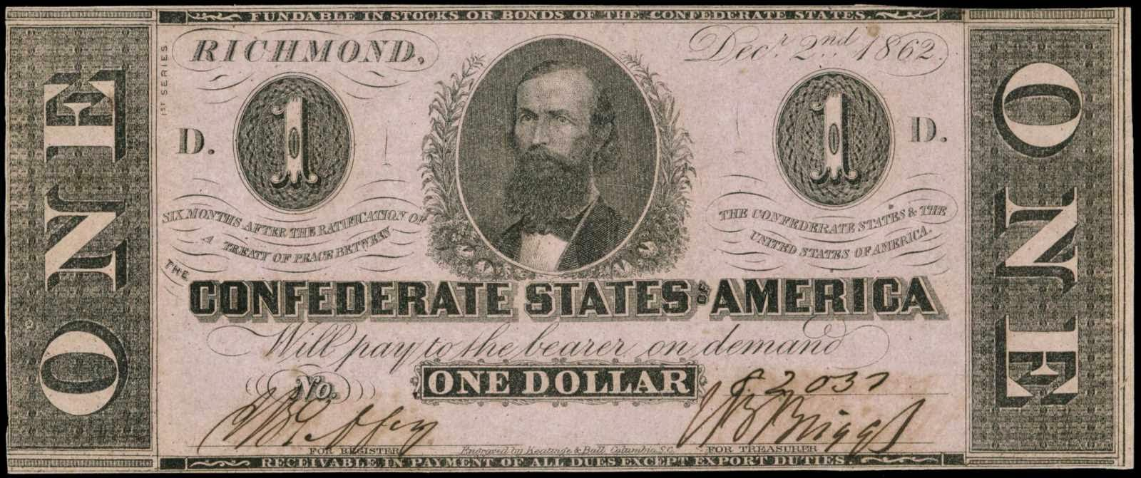 1 dollar billus dollar bills confederate states of america dollar bill 1862 xflitez Images