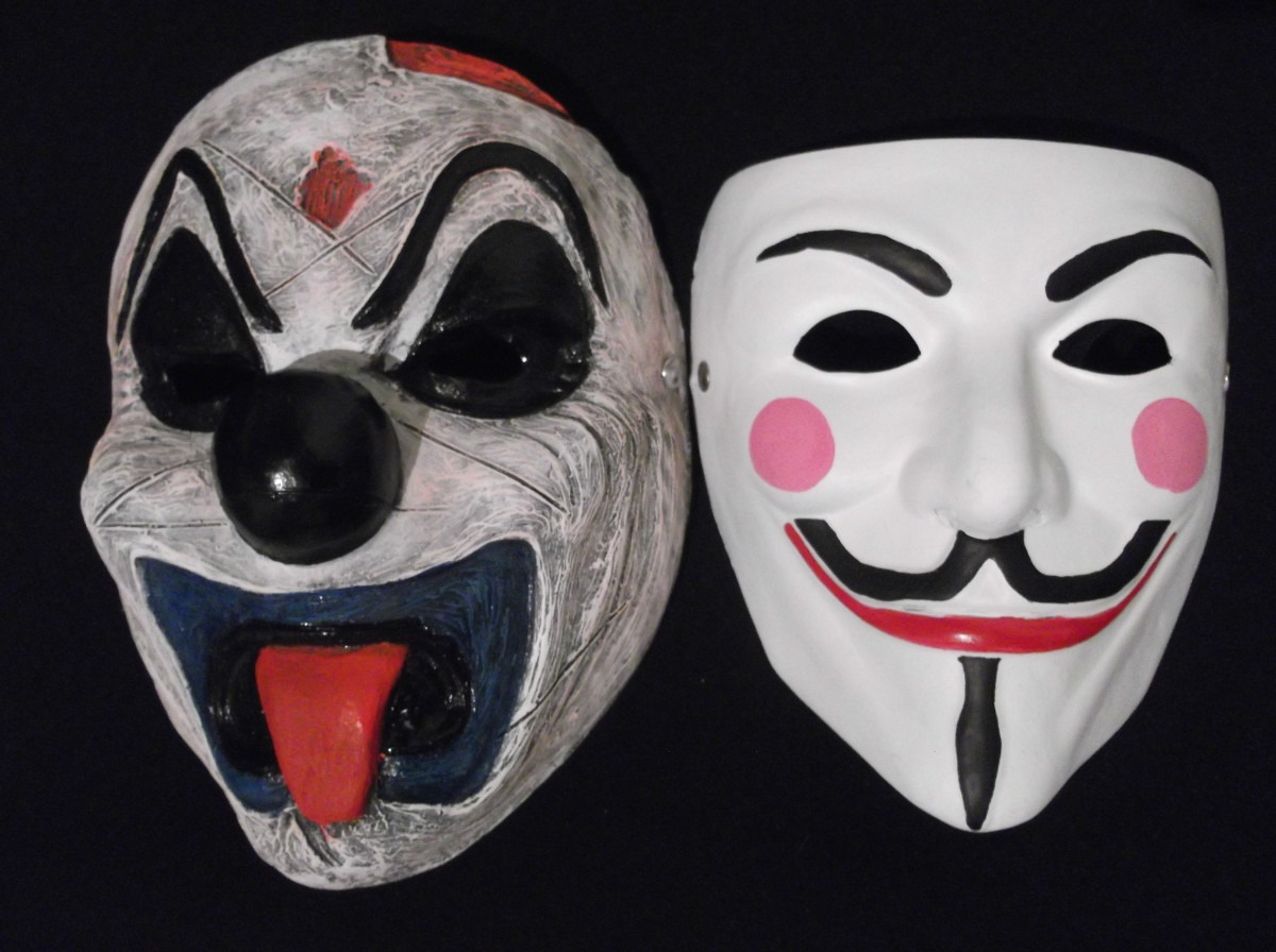 La máscara para la persona que estira de los tiempos