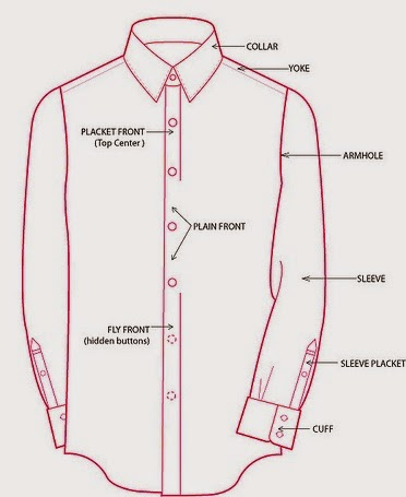 Front part of Long Sleeve Woven Shirt