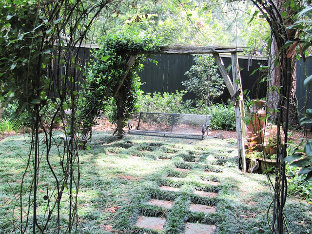 swing room in the back garden