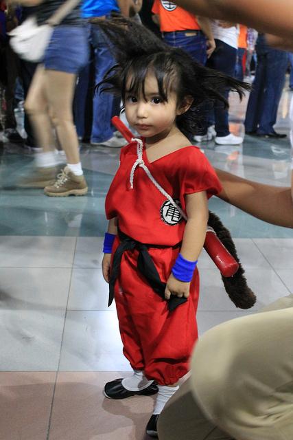 Cosplay de Son Goku niño