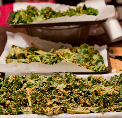 Kale Chips before baking