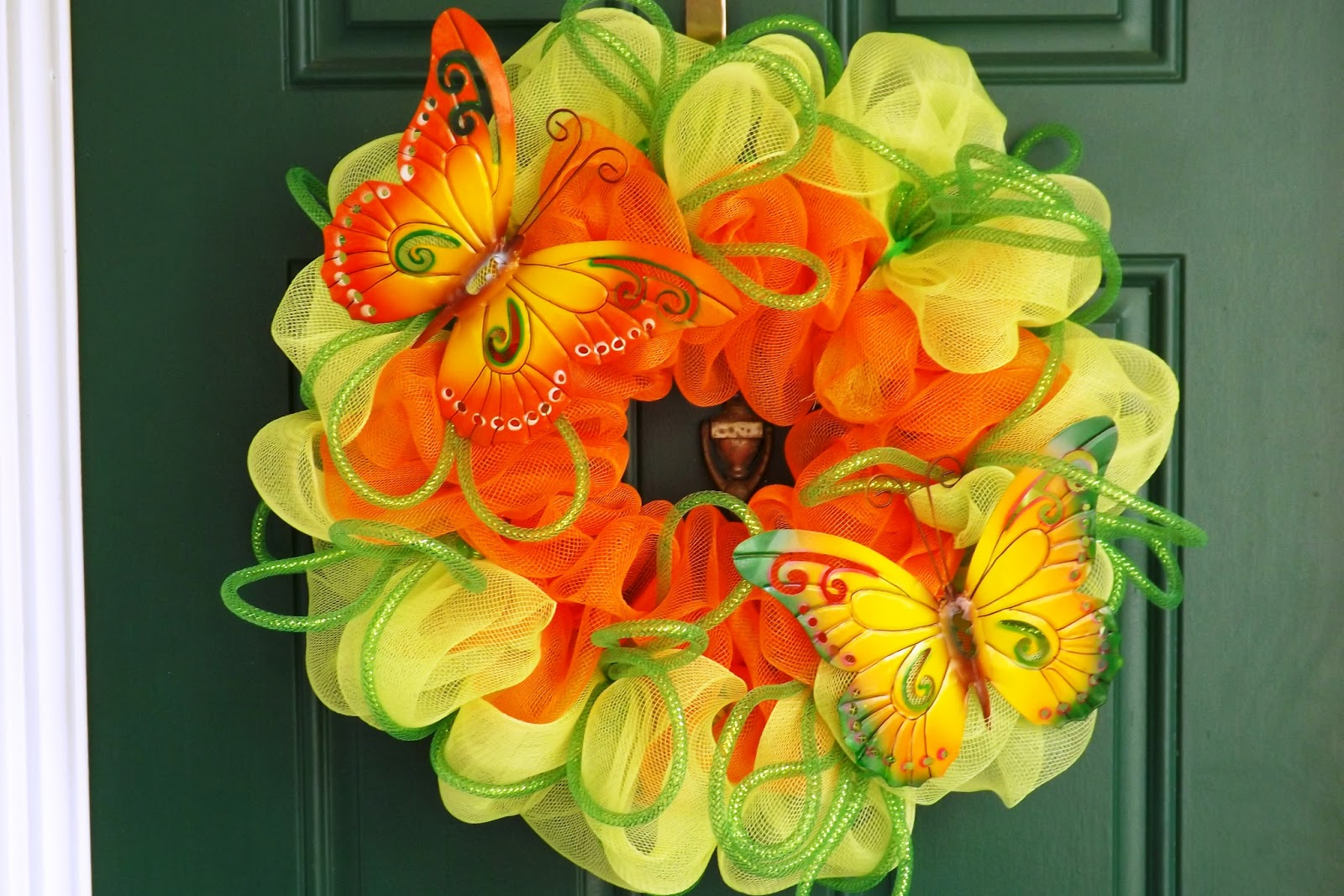 Crafts with deco mesh - Spring Summer Wreaths