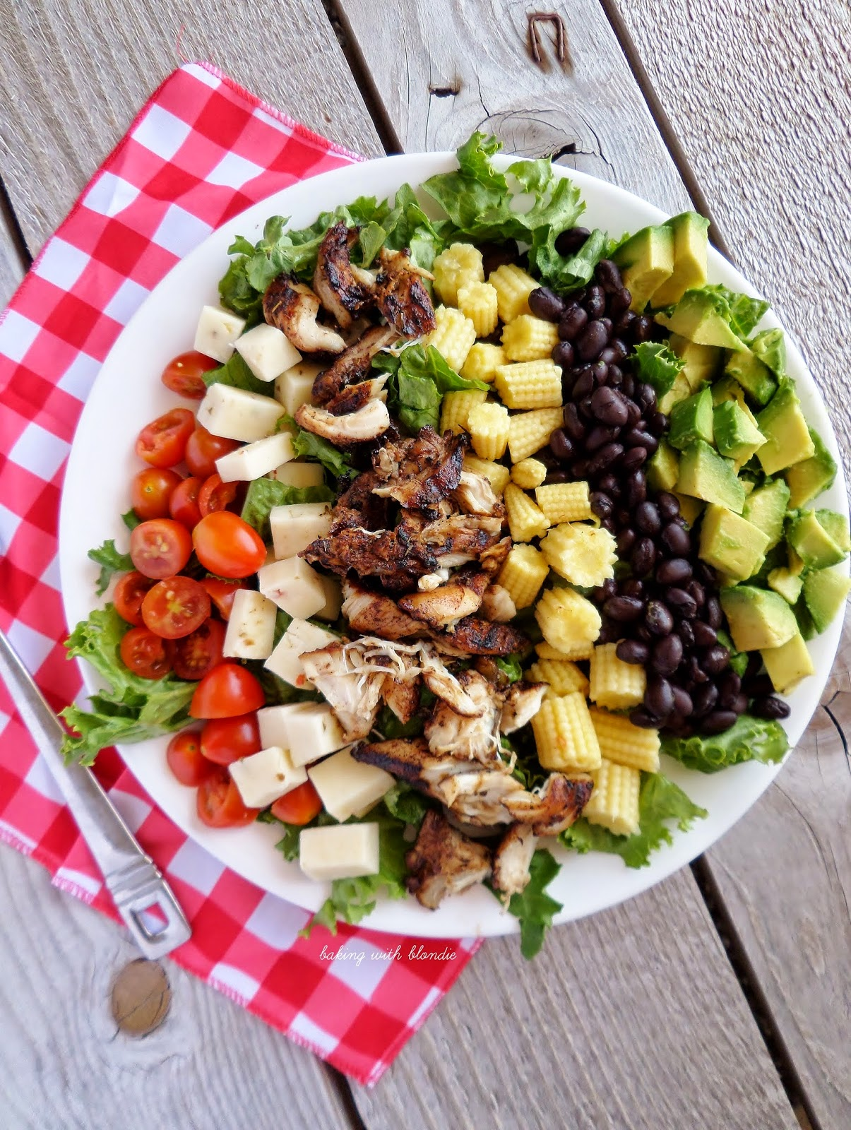 Jamaican Jerk Grilled Chicken Chopped Salad