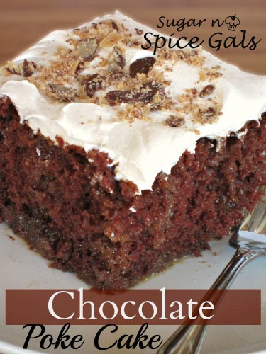 Cake With Chocolate Condensed Milk : Chocolate Poke Cake - Sugar n  Spice Gals