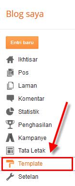 ara mengganti template untuk merubah tampilan blog