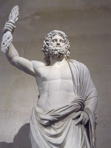 Saturn God Statue Trivia  what is the only dayJupiter Roman God Symbols