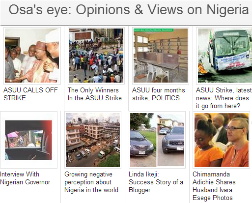 osas eye opinions and views on Nigeria