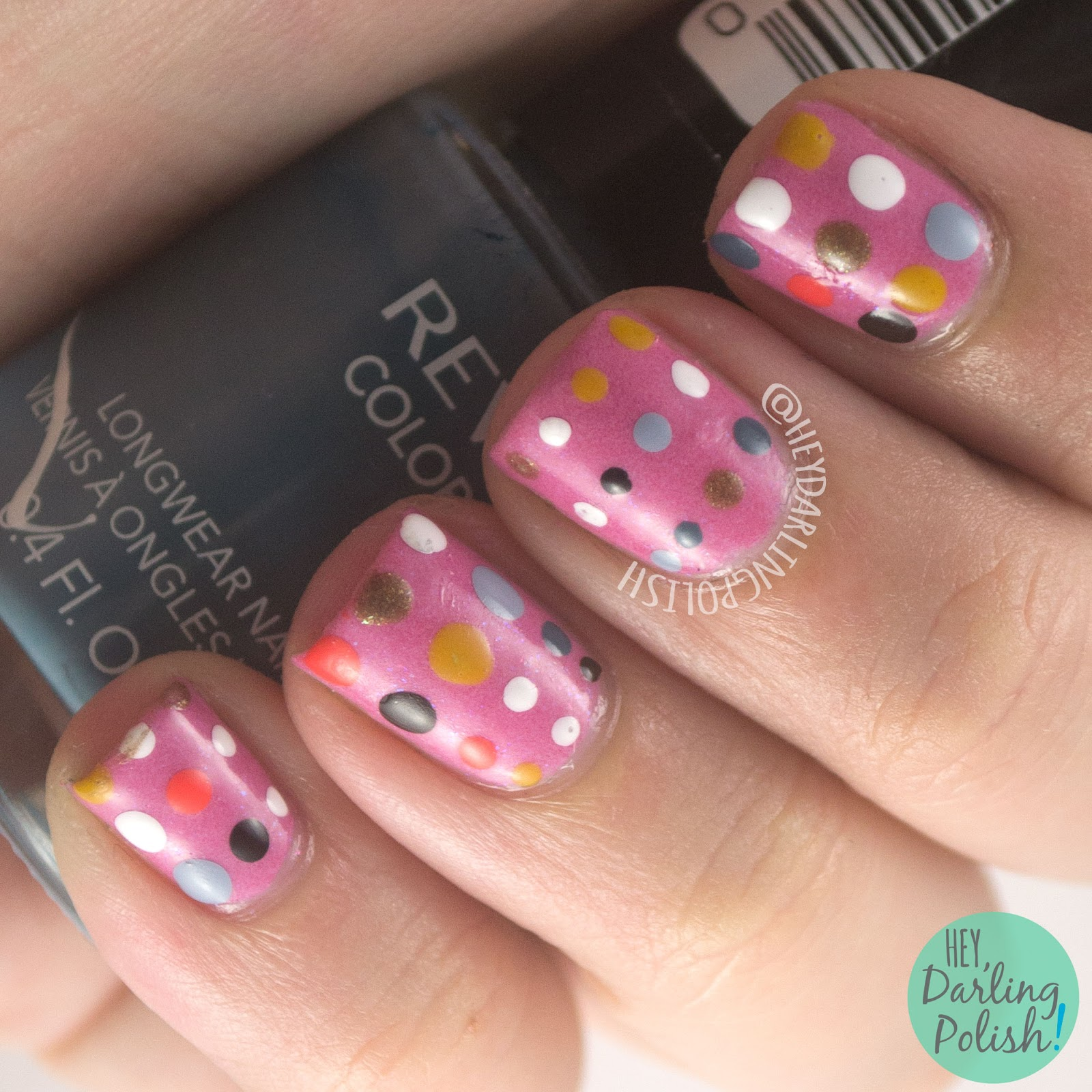 nails, nail art, nail polish, polka dots, dots, hey darling polish, 31 day challenge, 31dc2014